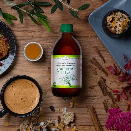 Flüssiger Olivenblattextrakt in Bio-Qualität