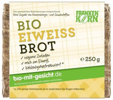 Eiweissbrot kohlenhydratreduziert - Frankenkorn - Bio - 250g
