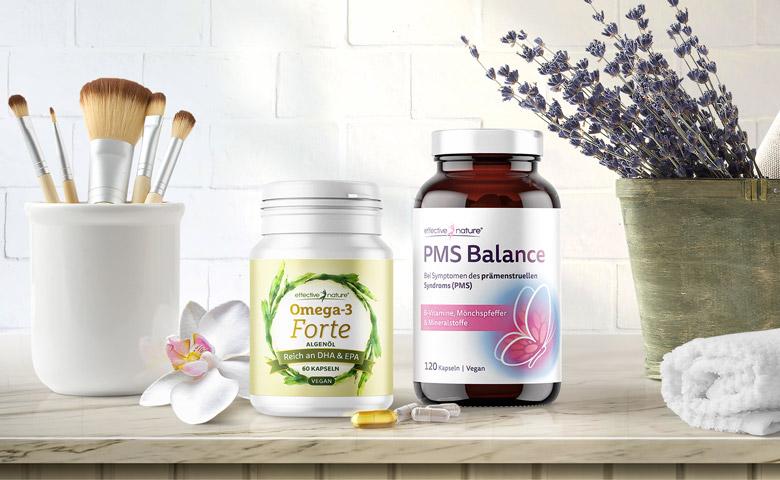 PMS Balance und Omega-3 Forte von effective nature