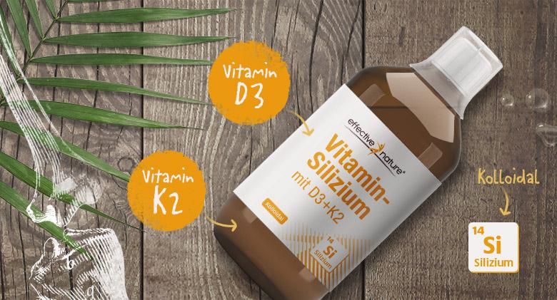 Abbildung Vitamin-Silizium mit allen drei enthaltenen Nährstoffen