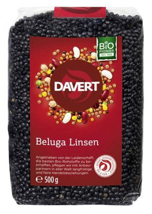 Beluga Linsen schwarz - Davert - Bio - 500g