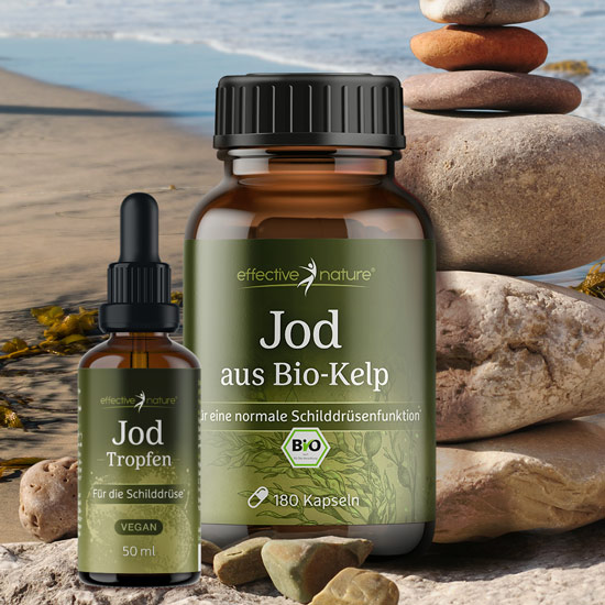 Jod Tropfen und Jod aus Bio-Kelp