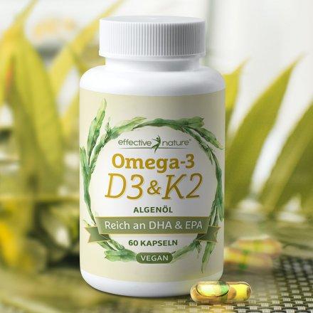 Omega-3-Kapseln mit D3 und K2 - 60 Stk.