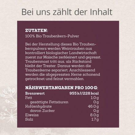 Traubenkern-Pulver