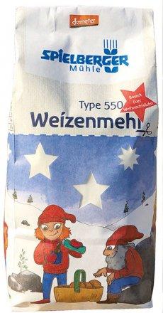 Weizenmehl Type 550 demeter - Spielberger - Bio - 1000g