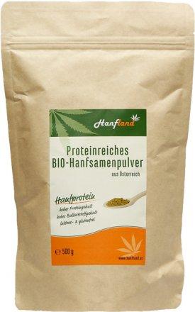 Hanfprotein-Hanfsamenpulver 46% - Bio - 500g