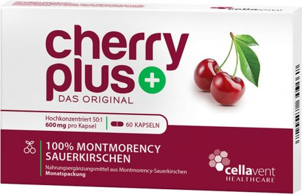 CherryPLUS - 1 Monatspackung Montmorency-Sauerkirschen-Kapseln - 60 Kapseln