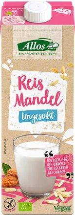 Veganer Reis-Mandel-Drink ohne Zuckerzusatz