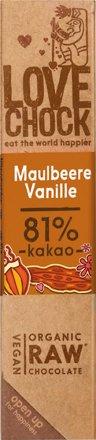 Veganer Schokoladenriegel Maulbeere / Vanille