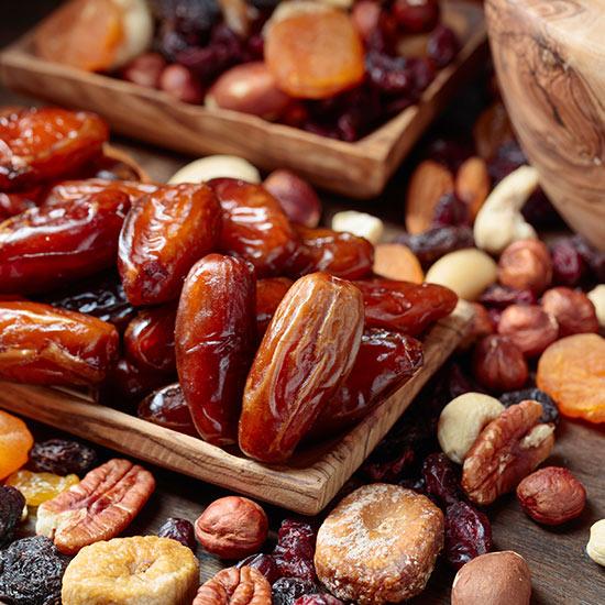 Getrocknete Früchte von Keimling