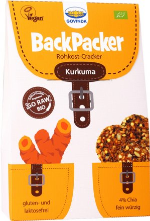 Rohkost-Cracker Backpacker Kurkuma