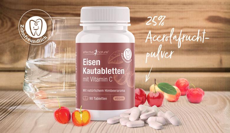 Eisenkautabletten mit Vitamin C