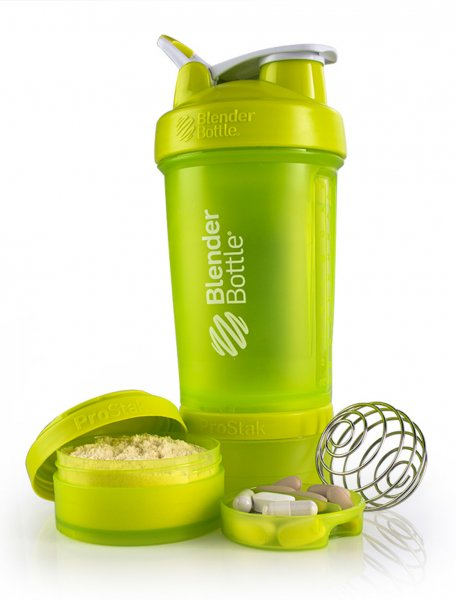 Shaker - Blender Bottle - ProStak - green - 650ml