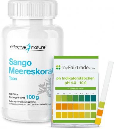 Sango-Meereskorallen Tabs & pH-Teststreifen