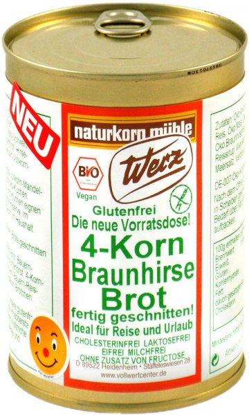 4-Korn Braunhirse-Brot - Bio - 400g