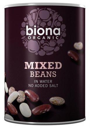 Bohnen-Mix Pinto,- Canellini-, Kidneybohnen - Biona - Bio - 400g