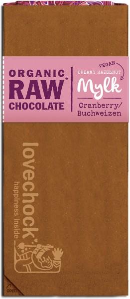 Lovechock Tafel Cranberry / Buchweizen - Bio - 70g