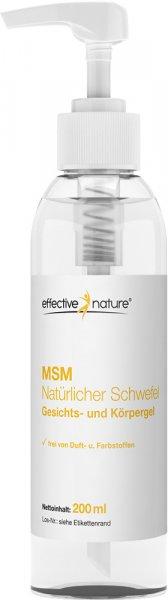 MSM natürlicher Schwefel Gesichts- und Körpergel - 200ml