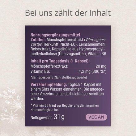 Hochdosierter Mönchspfefferextrakt mit Vitamin B6