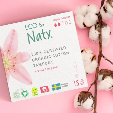 Tampons regular- aus Bio-Baumwolle