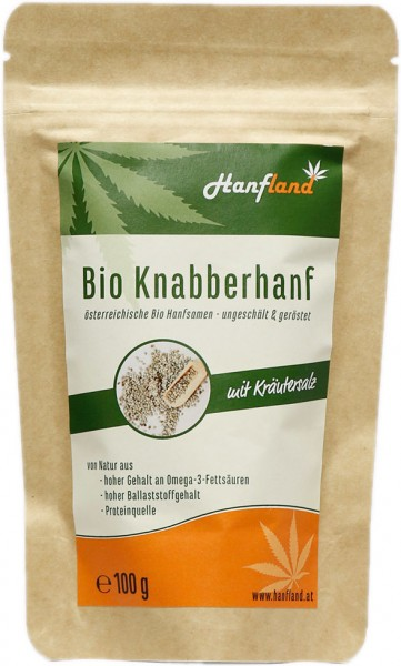 Knabberhanf salzig - Bio - 100g