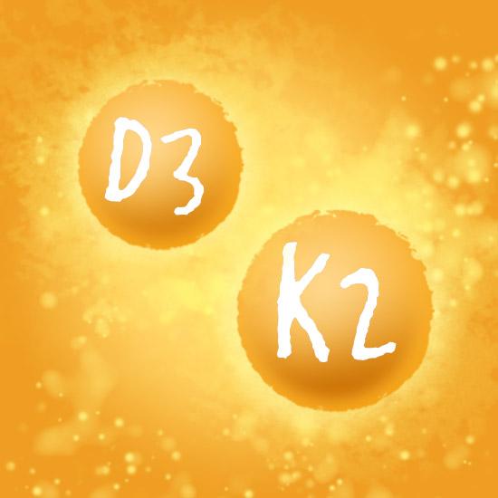 Darstellung Vitamin D3 und K2