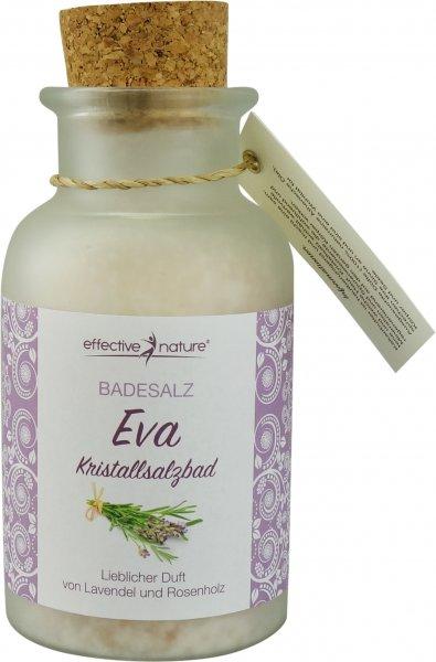 Badesalz Eva - Lavendel, Rosenholz & Ylang Ylang - Glas 340g