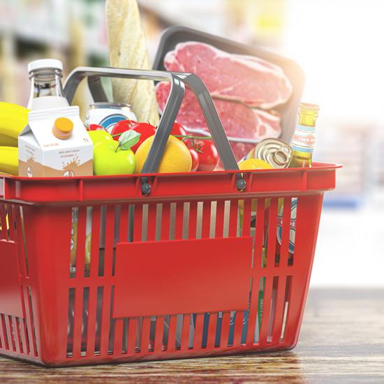 Ein voller Einkaufskorb