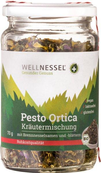 Brennnessel-Pesto mit Wildblüten - Bio - 70g