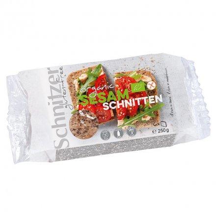 Sesam-Schnitten - glutenfreies Bio-Brot aus Buchweizen